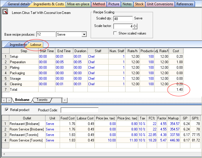 Resort Software - Product Features - Labour Costing